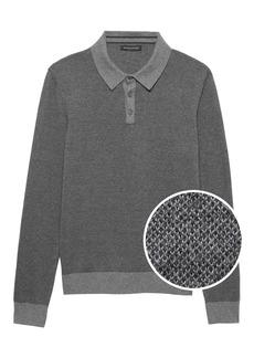 Banana Republic Cotton Cashmere Sweater Polo