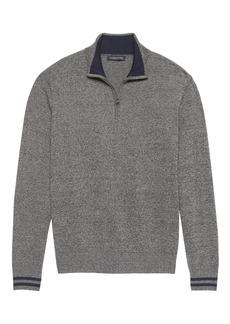 Banana Republic Cotton Cashmere Half-Zip Sweater