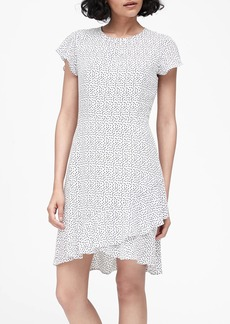 Banana Republic Print Flutter-Sleeve Mini Dress