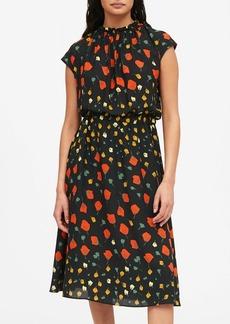 Banana Republic Print Midi Dress