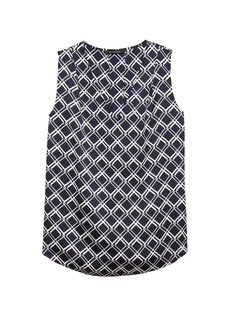Banana Republic Print Pleated Drapey Tank