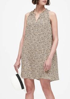 Banana Republic Print Pleated Swing Dress