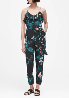 Banana Republic Print Ruffled Jumpsuit