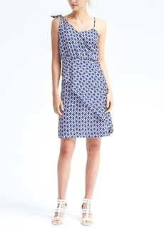 Print Sleeveless Tie-Shoulder Dress