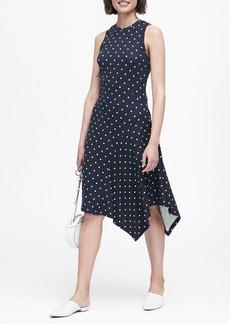 Banana Republic Print Soft Ponte Asymmetrical Dress