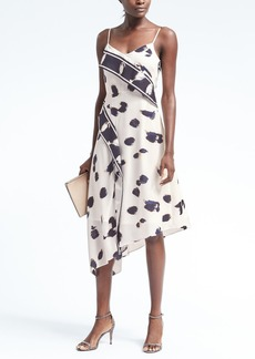 Print Strappy Foldover Dress