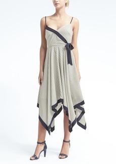 Print Strappy Handkerchief-Hem Dress