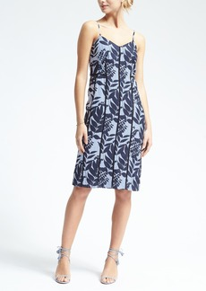 Banana Republic Print Strappy Slip Dress