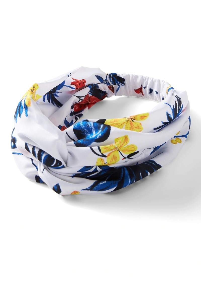 Banana Republic Printed Satin Twist Headband
