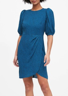 Banana Republic Puff-Sleeve Sheath Dress