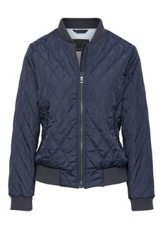 Banana Republic Quilted Bomber Jacket with Pop-Color Lining
