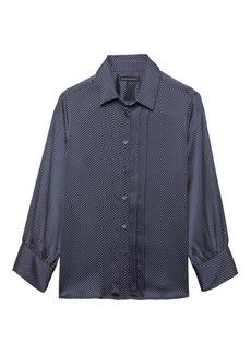 Banana Republic Quinn Boy-Fit Dot Pleat-Front Shirt