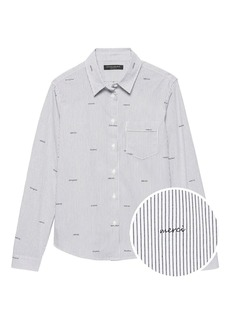 Banana Republic Quinn-Fit Merci Stripe Shirt