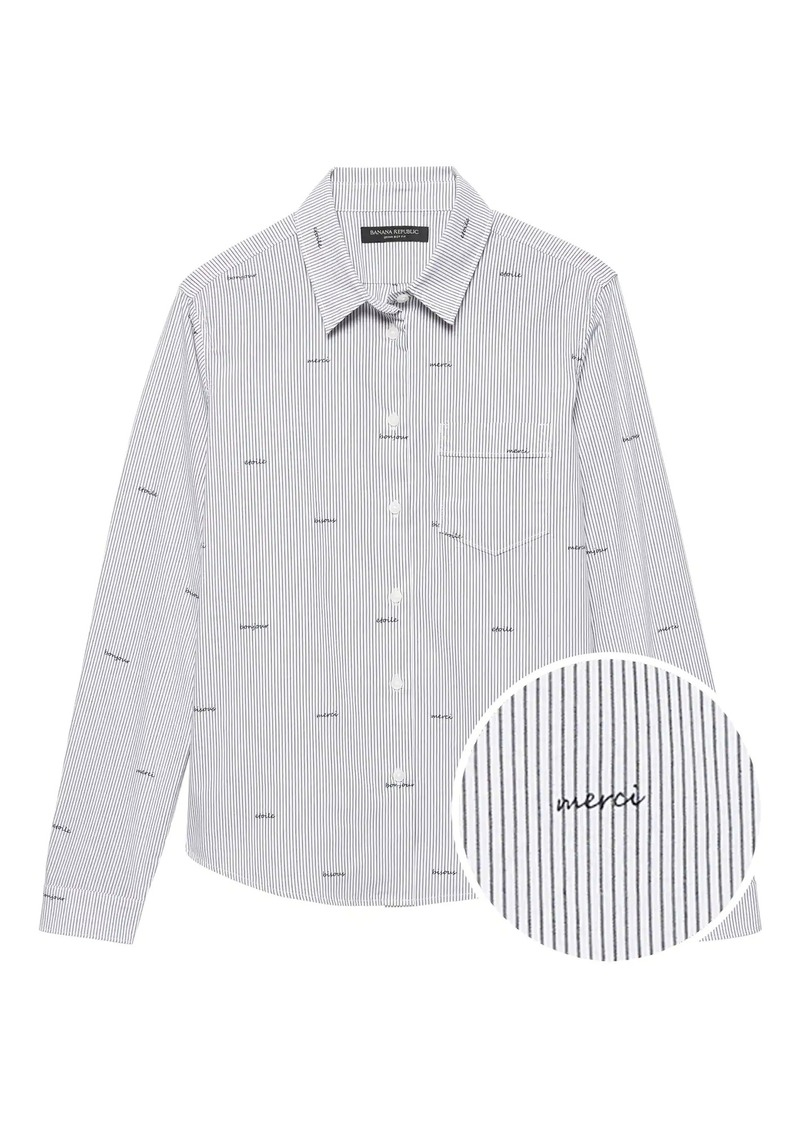 Banana Republic Quinn Straight-Fit Merci Stripe Shirt