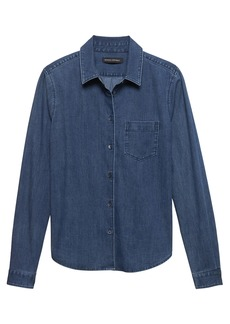 Banana Republic Quinn Straight-Fit Stretch Denim Shirt