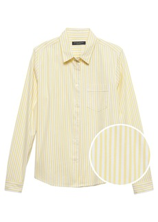 Banana Republic Quinn-Fit Stripe Oxford Shirt
