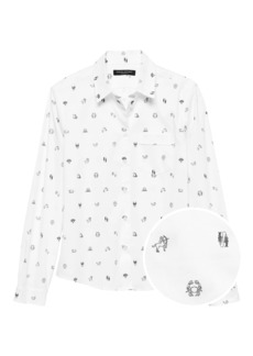 Banana Republic Quinn Straight-Fit Zodiac Print Shirt