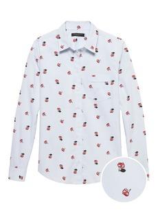 Banana Republic Quinn Straight-Fit Cherry Print Shirt