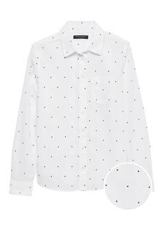 Banana Republic Quinn Straight-Fit Cotton-Linen Shirt