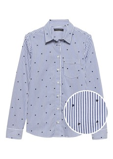 Banana Republic Quinn Straight-Fit Heart Print Shirt