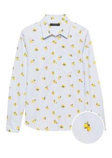 Banana Republic Quinn Straight-Fit Lemon Print Shirt