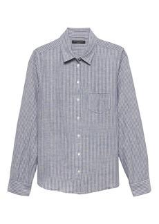 Banana Republic Quinn Straight-Fit Linen-Cotton Shirt