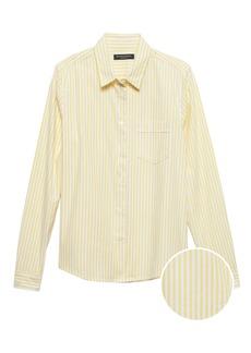 Banana Republic Quinn Straight-Fit Stripe Oxford Shirt