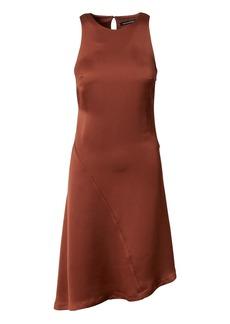 Racer-Neck Asymmetrical Dress