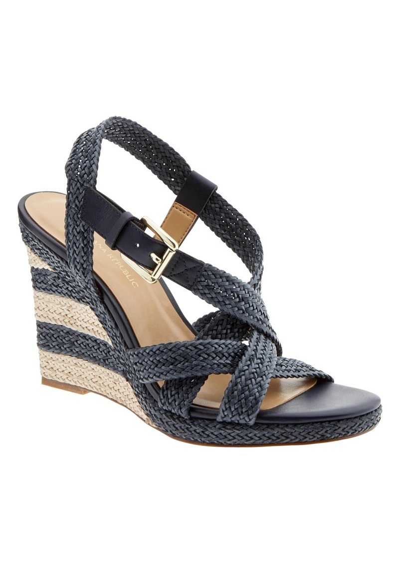 Banana Republic Raine Woven Platform Wedge