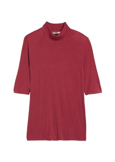 Banana Republic Rayon-Wool Mock-Neck T-Shirt