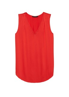 Banana Republic Red Pleated Drapey Tank