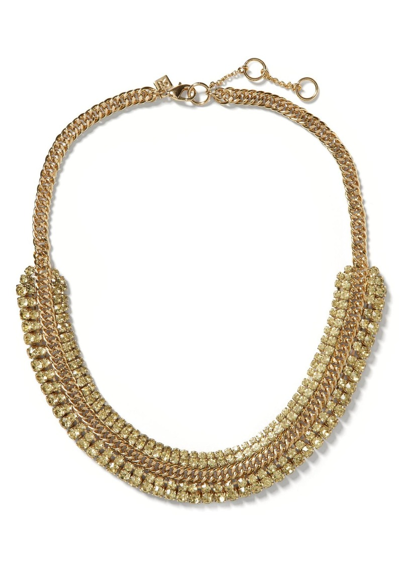 Banana Republic Regal Crystal Curb Necklace