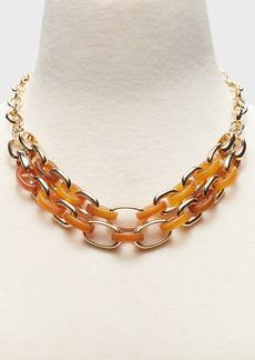 Banana Republic Resin & Gold Statement Necklace