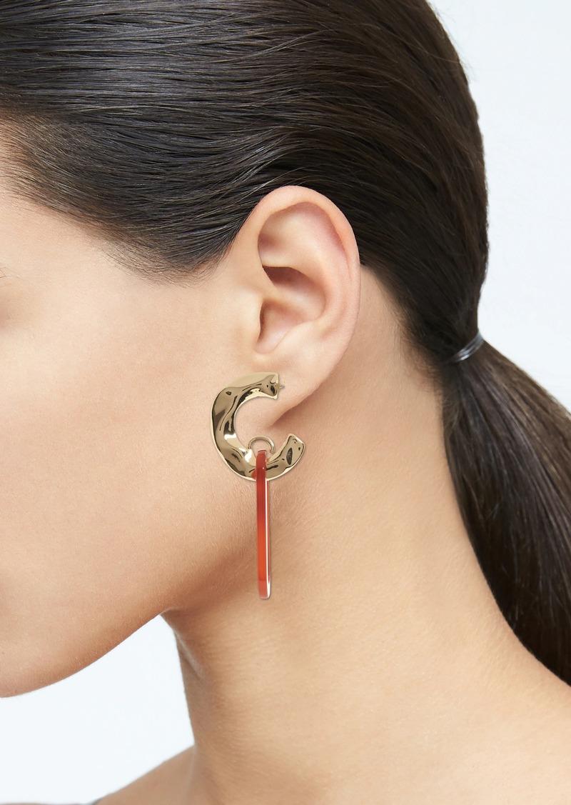 Banana Republic Resin Oblong Link Earrings