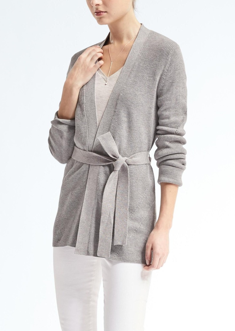 Banana Republic Ribbed Belted Cardigan   Sweaters - Shop It To Me