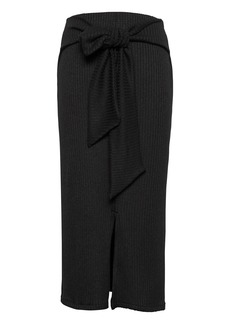 Banana Republic Ribbed Luxespun Tie-Waist Midi Skirt