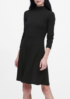 Banana Republic Ribbed Mock-Neck Mini Dress