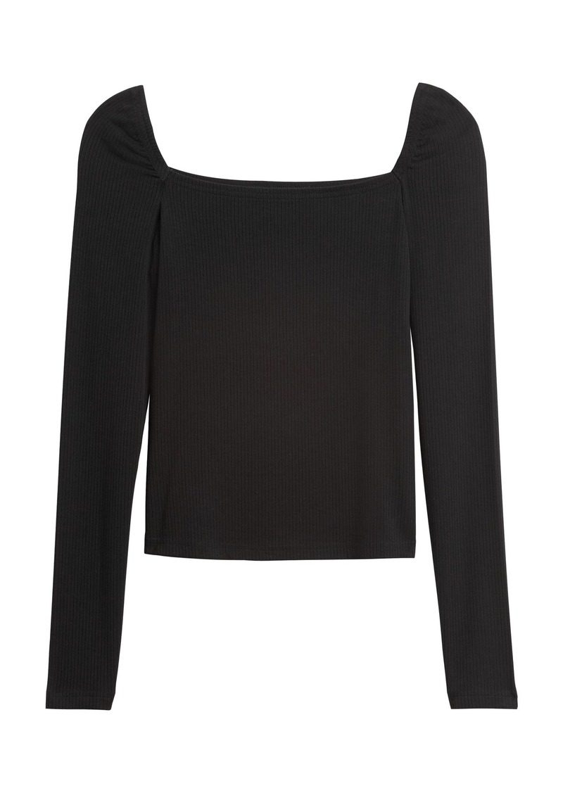 Banana Republic Ribbed Square-Neck Cropped Top