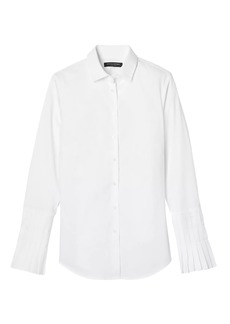 Banana Republic Riley-Fit Pleated-Sleeve Shirt