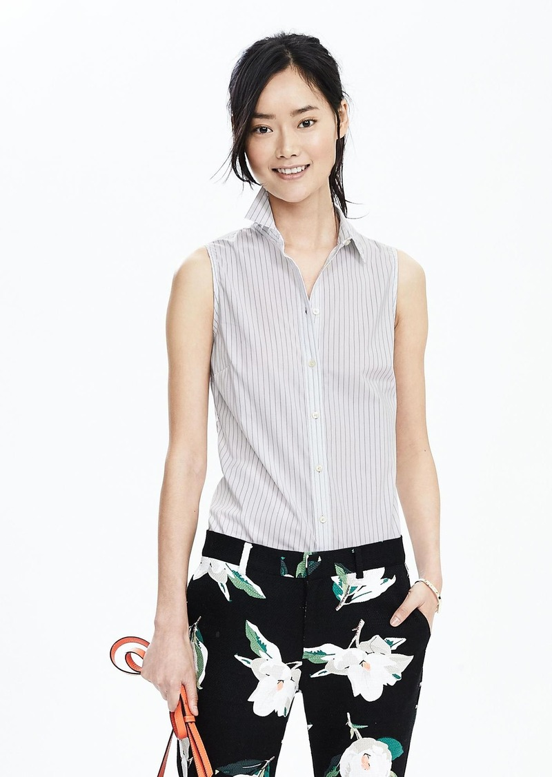 Banana Republic Riley-Fit Stripe Sleeveless Shirt