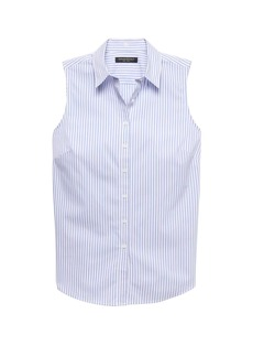 Banana Republic Riley Tailored-Fit Sleeveless Super-Stretch Shirt