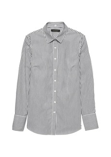 Banana Republic Riley Tailored-Fit Stripe Super-Stretch Shirt
