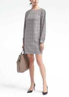Banana Republic Ruffle-Cuff Lightweight Wool Shift Dress