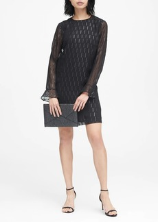 Banana Republic Ruffle-Cuff Shift Dress