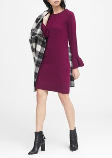 Banana Republic Ruffle-Cuff Sweater Dress