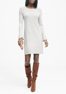 Banana Republic Ruffle-Cuff Sweater Dress