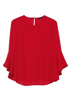 Banana Republic Ruffle-Cuff Top