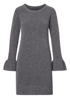 Banana Republic Ruffle-Cuff Wool Blend Sweater Dress
