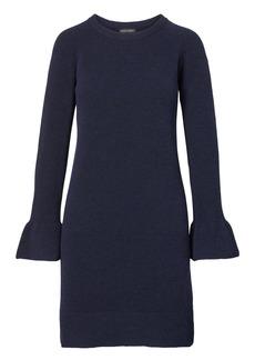 Banana Republic Ruffle-Cuff Wool Blend Sweater Dress