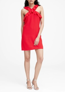 Banana Republic Ruffle Halter Dress
